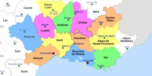 GC Géobiologie Géobiologue - Départements d'intervention - sud est -  - Gard (30) Lozère (48) Ardèche (07) Bouches du Rhône (13) Alpes de haute Provence (04) Hautes Alpes (05) Aveyron (12) Haute Loire (43) Var (83) Hérault (34) Vaucluse (84) Drome (26)
